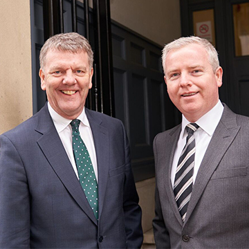 Nigel Wood of the Wilkes Partnership Solicitors and James Leo of Coley & Tilley