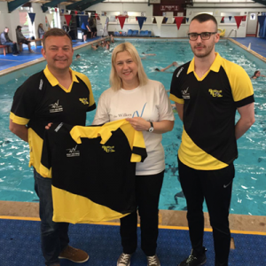 Birmingham & Solihull Solicitors The Wilkes Partnership sponsor Solihull Swimming Club, Ann-marie Aston. Notary Public